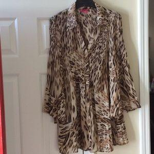 Sunny Leigh cheetah print tunic